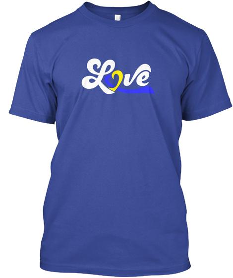 Love Deep Royal T-Shirt Front