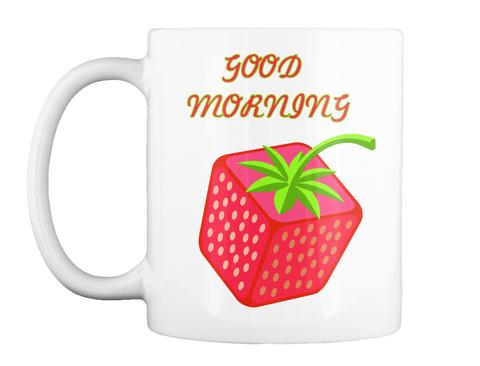 Good Morning White Mug Front