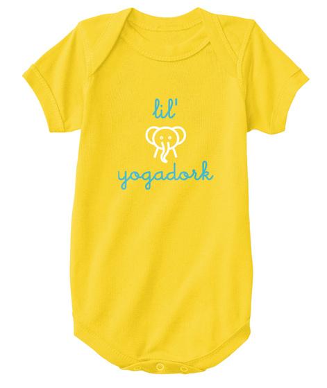 Lil Yogadork Yellow  T-Shirt Front
