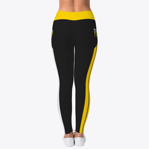 Rebo Ii Obe Gold Two Tone Leggings Black T-Shirt Back