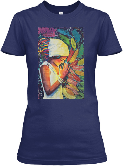 The In Betweens By Erica Kathleen.Com Midnight Navy T-Shirt Front