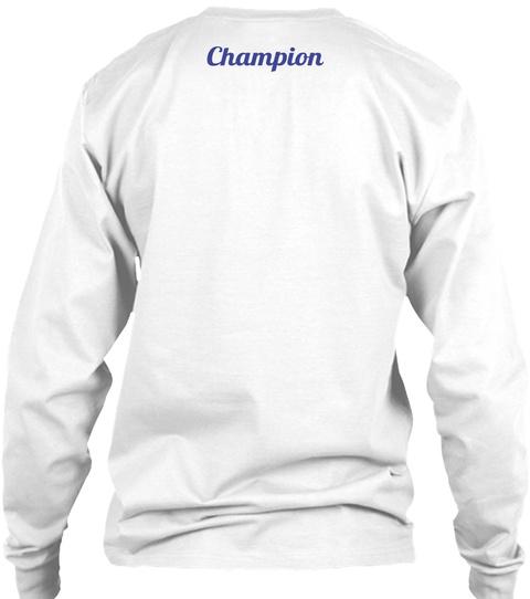 Champion White Long Sleeve T-Shirt Back