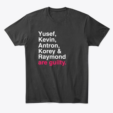 Yusef, Kevin, Antron, Korey & Raymond Black T-Shirt Front