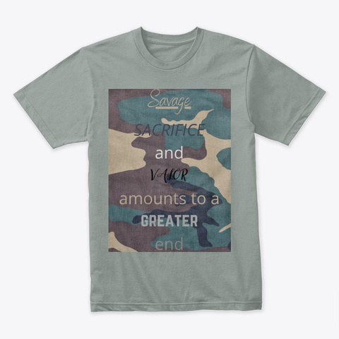 Savage Warm Grey T-Shirt Front