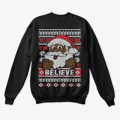 Black Santa Ugly Christmas Sweater Products From Mens Funny