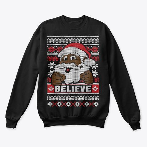 Mens Christmas Sweaters.Black Santa Ugly Christmas Sweater