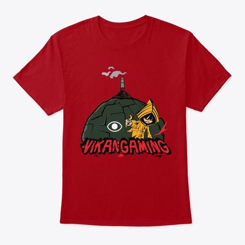 Vikan Gamings Maw Deep Red Kaos Front
