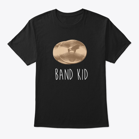 Funny Cymbals Band Kid Marching Band Black T-Shirt Front