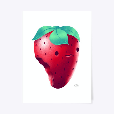 Strawberry Poster Standard T-Shirt Front