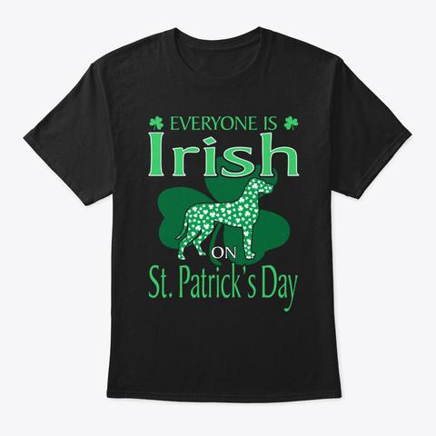 Great Dane Irish On St Patricks Day Black T-Shirt Front