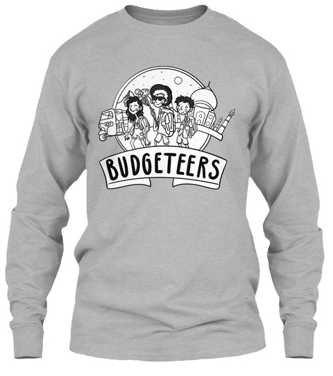Budgeteers Sport Grey Long Sleeve T-Shirt Front