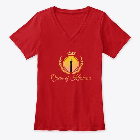 Queen Of Kinshasa  Red T-Shirt Front