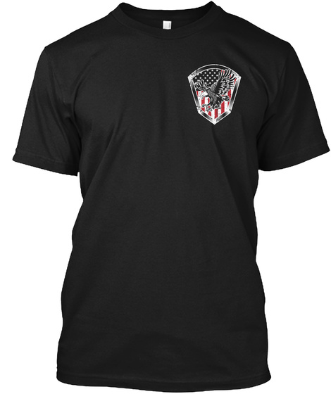 Don't Stomp On My Flag! Black T-Shirt Front