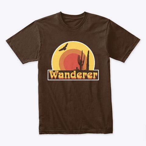 Retro Desert Wanderer   Dark Chocolate T-Shirt Front
