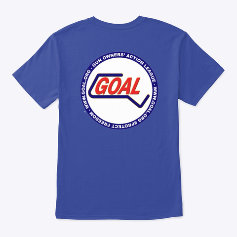 Goal Logo Tee Deep Royal T-Shirt Back