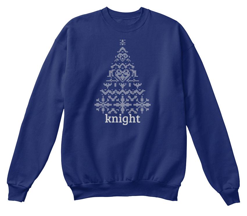 Printed Knight Knitted Sweat-Shirt Christmas Tree - Sweat-Shirt Knitted Sweat-Shirt Confortable b99f95