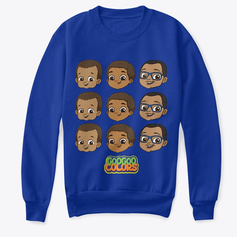 """Zbros"" Kid Sweater Deep Royal  T-Shirt Front"