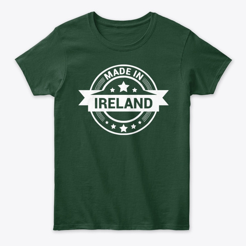 Made In Ireland Forest Green T-Shirt Front