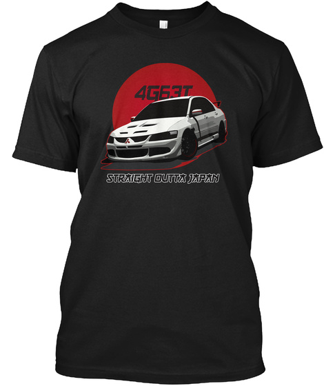 Straight Outta Japan Black T-Shirt Front