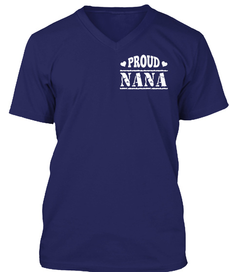 Proud Nana Navy T-Shirt Front
