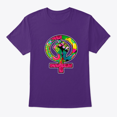Girl Gang Purple T-Shirt Front