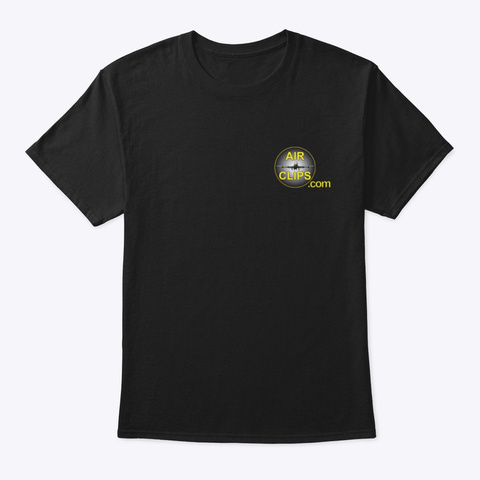 Air Clips.Com Hero Wear Black T-Shirt Front