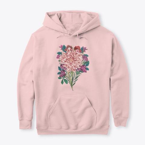 Botanical Flowers Gardening 3 Light Pink T-Shirt Front