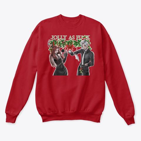 Larkin & Joel Jolly As F! Deep Red  T-Shirt Front