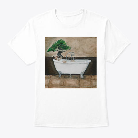 Clean The Grout White T-Shirt Front