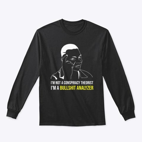 The Bullshit Analyzer Black T-Shirt Front