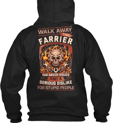 Sarcastic Farrier Shirt Black T-Shirt Back