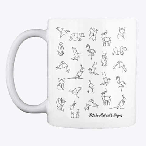Origami Mug White Mug Front