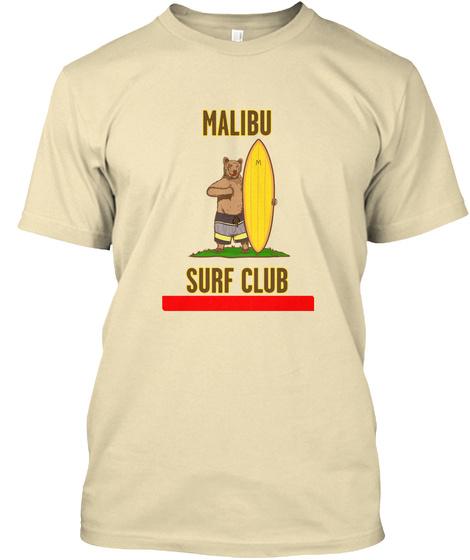 Malibu Surf Club Cream T-Shirt Front