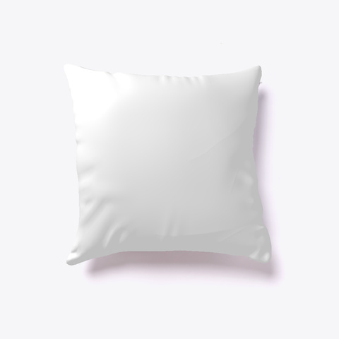 Popup Art Pillow   Limited Edition White T-Shirt Back