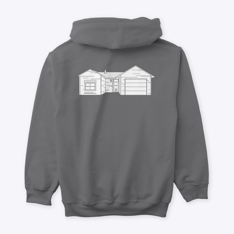 Classic Burbs Hoodie   All Colors Dark Heather T-Shirt Back