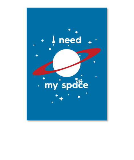 My Space Planet Sticker [Int] #Sfsf Royal Blue Sticker Front