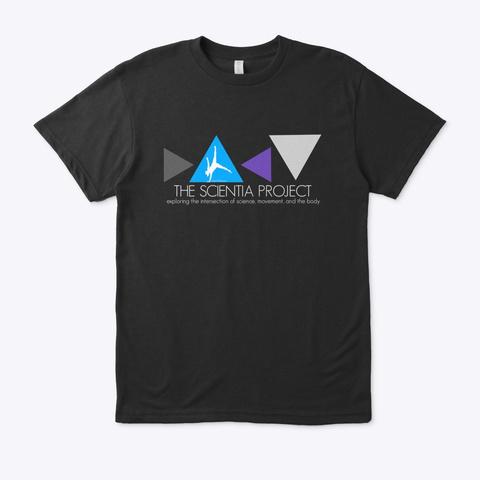 The Scientia Project Merchandise Black T-Shirt Front