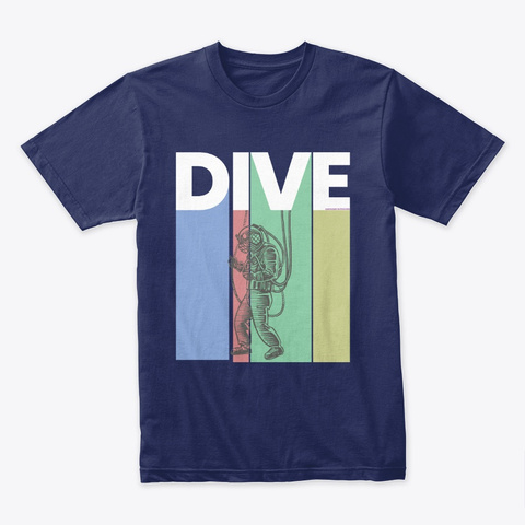 Dive Midnight Navy T-Shirt Front