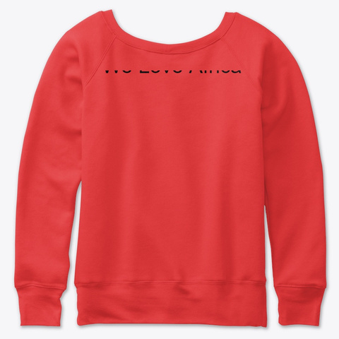 We Love Africa Red T-Shirt Back