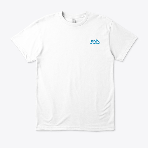 Moray Eel Hand Signal · Eco T Shirt White T-Shirt Front