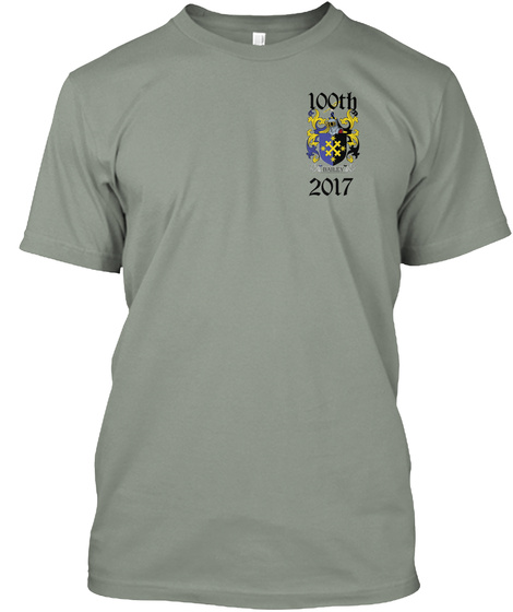 100 Th 2017 Grey T-Shirt Front