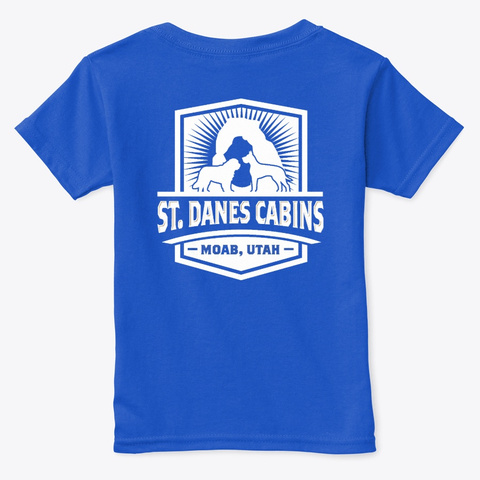 St Dane's Swag Royal  T-Shirt Back