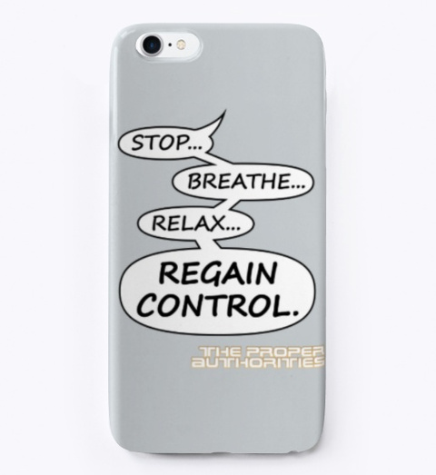Regain Control: Speech Bubble Design Light Grey T-Shirt Front