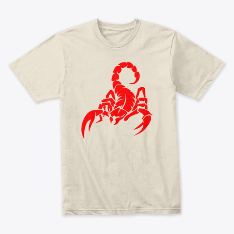 Scorpion Red Cream T-Shirt Front