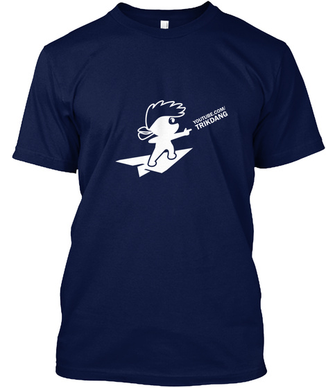 Youtube.Com Trikdang Navy T-Shirt Front