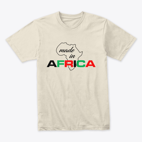 Made In Africa Cream T-Shirt Front