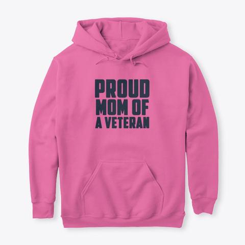 Proud Veteran Mom Azalea T-Shirt Front