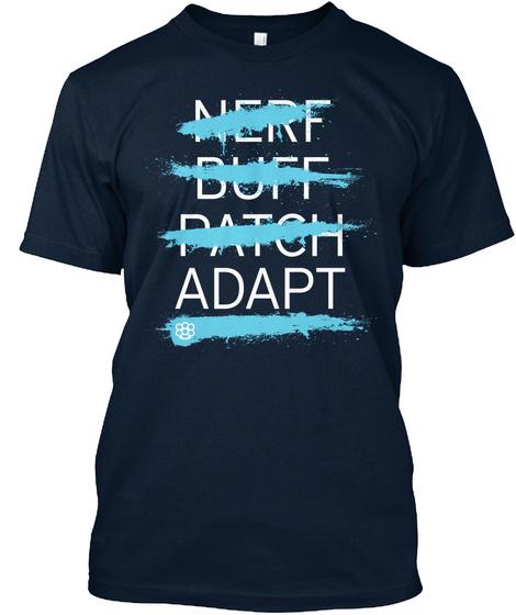 Nerff Butt Patch Adapt New Navy T-Shirt Front