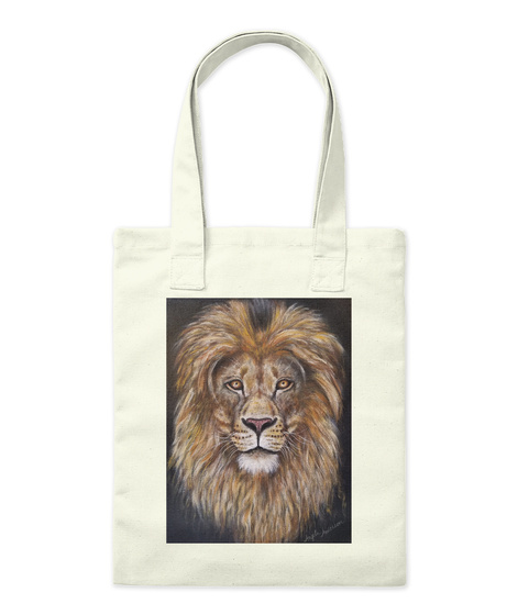 Lion Portrait Acrylic Painting  Natural Maglietta Front
