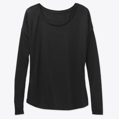How Expert Women's Long Sleeve Shirt Black T-Shirt Front